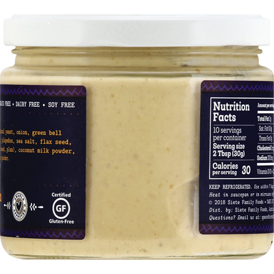 Siete Cashew Queso, Dairy Free, Spicy Blanco