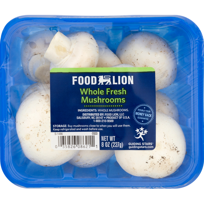 Food Lion Mushrooms, Whole Fresh