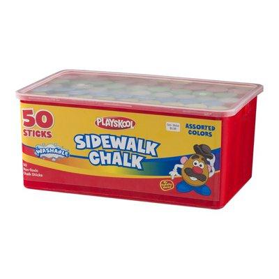 Playskool Sidewalk Chalk Assorted Colors - 50