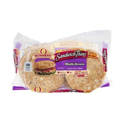 Brownberry/Arnold/Oroweat Sandwich Thins Rolls Multi-Grain - 8 CT