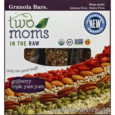 Two Moms In The Raw Granola Bars, Gojiberry Triple Yum-Yum