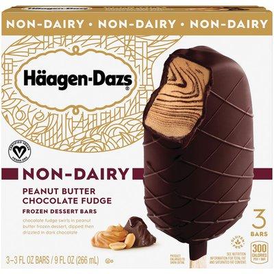 Haagen-Dazs Peanut Butter Chocolate Fudge Non-Dairy Frozen Dessert Bars