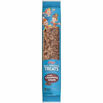 Kellogg's Rice Krispies Treats Marshmallow Snack Bar, Kids Snacks, School Lunch, Double Chocolatey Chunk