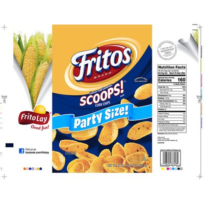 Fritos Scoops Party Size Corn Chips