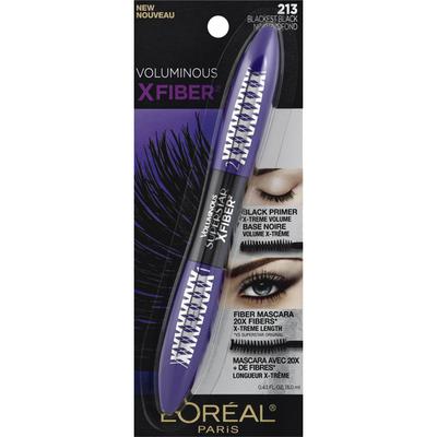 L'Oreal Voluminous X Fiber Mascara 213 Blackest Black
