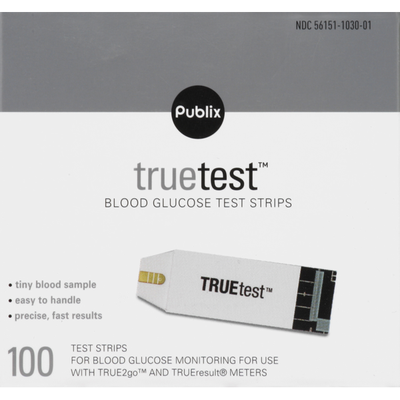 Publix Blood Glucose Test Strips, TrueTest