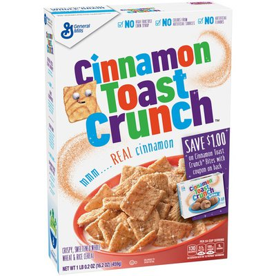 General Mills Cinnamon Toast Crunch, Cereal, with Whole Grain