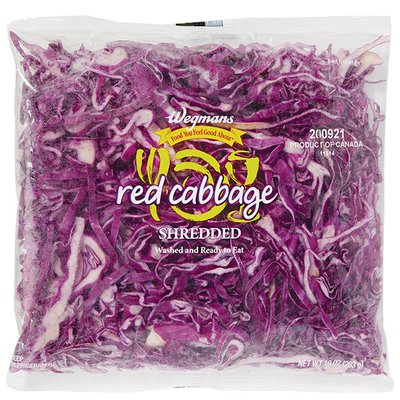Wegmans Food You Feel Good About Shredded Red Cabbage