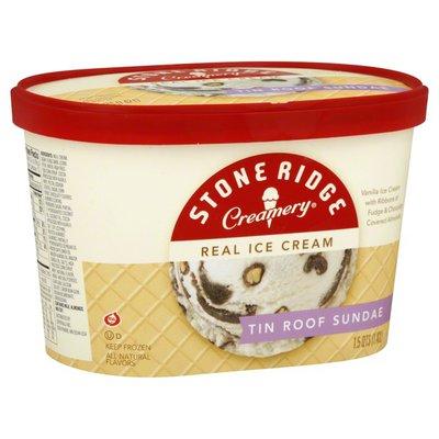 Stone Ridge Creamery Ice Cream, Tin Roof Sundae