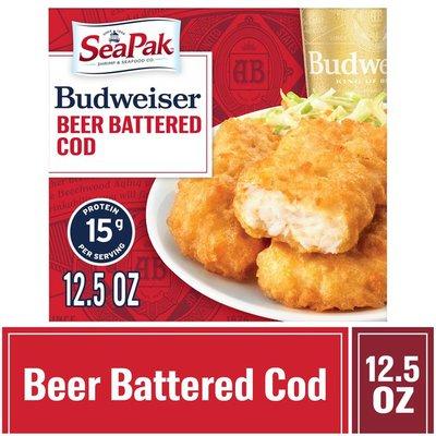 SeaPak Budweiser Beer Battered Cod Fillets