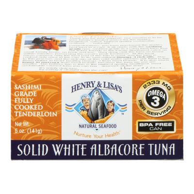 Henry & Lisas Tuna, Albacore, Solid White, Cooked Tenderloin