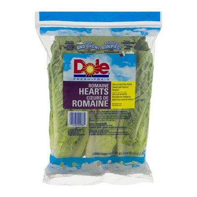 Dole Fresh Romaine Hearts - 3 CT