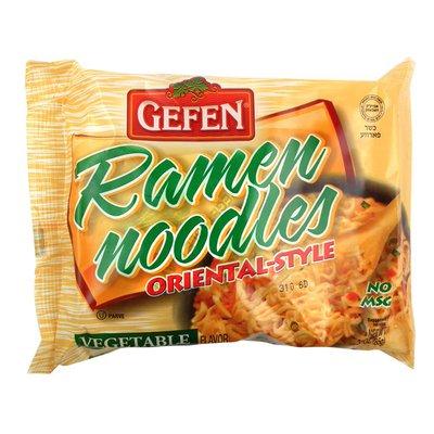 Gefen Ramen Noodles, Oriental-Style, Vegetable Flavor