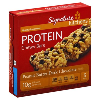 Signature Select Peanut Butter & Dark Chocolate Protein Chewy Bars