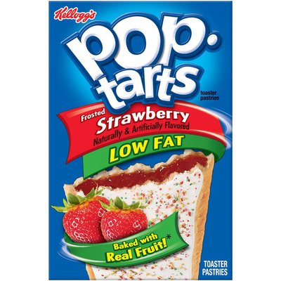 Kellogg's Pop-Tarts Low Fat Frosted Strawberry Toaster Pastries