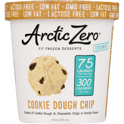 Arctic Zero Chunky Fit Frozen Desserts Cookie Dough Chip