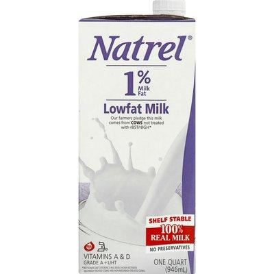 Natrel Milk, Lowfat, 1% Milk Fat