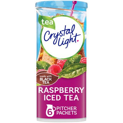 Crystal Light Raspberry Iced Tea Naturally Flavored Powdered Drink Mix