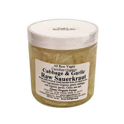 Glaser Organic Farms Cabbage & Garlic Raw Sauerkraut