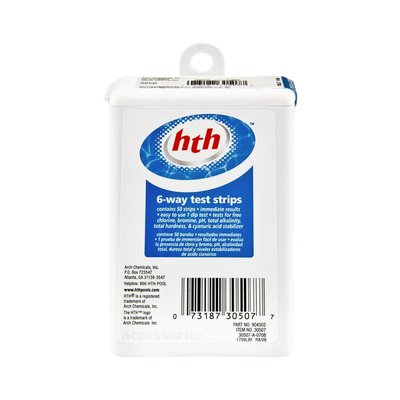 HTH 6-Way Test Strips - 50 CT