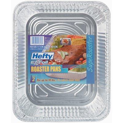 """Hefty EZ Foil 11 3/4 X 9 1/4 X 2 1/2"""" Superoaster Roaster Pans"""