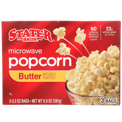 Stater Bros. Markets Microwave Popcorn Butter Flavored