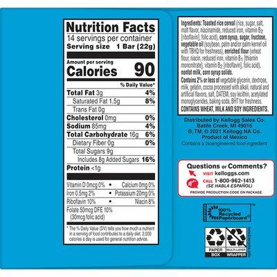 Kellogg's Rice Krispies Treats Marshmallow Snack Bars, Kids Snacks, Cookies'n'Creme