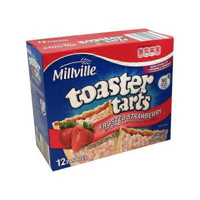 Millville Frosted Strawberry Toaster Tarts