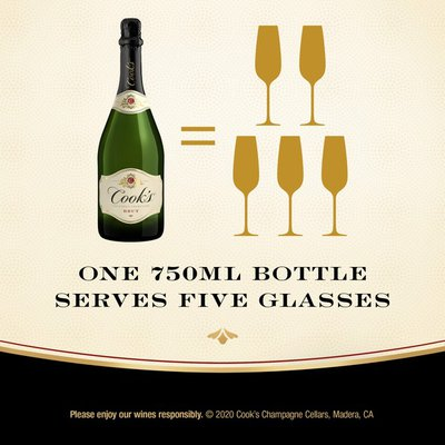 Cook's California Champagne Brut White Sparkling Wine