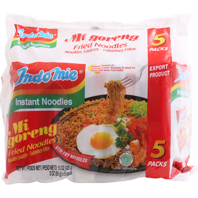 Indo Mie Instant Noodles, Fried, 5 Pack