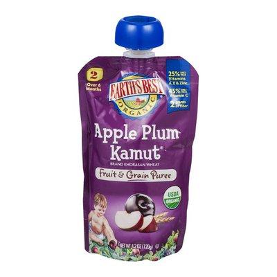 Earth's Best Organic Apple Plum Kamut Stage 2 Baby Food