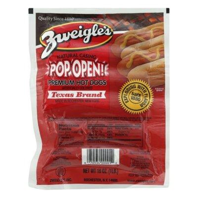 Zweigles Pop Open Premium Hot Dogs
