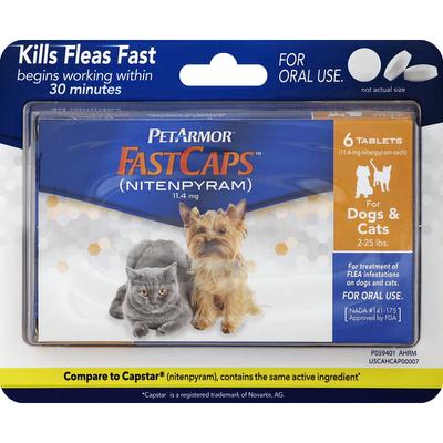 PetArmor Flea Treatment, Nitenpyram, 11.4 mg, for Dogs & Cats 2-25 Pounds, Tablets