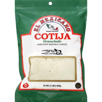 El Mexicano Cheese, Aged Part Skim Milk Cheese, Granulado, Cotija