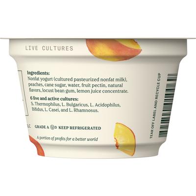 Chobani Yogurt, Greek, Non-Fat, Peach on the Bottom