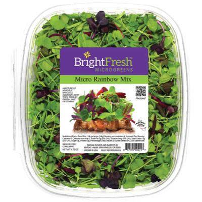 Bright Fresh Microgreens Micro Rainbow Mix