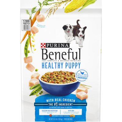 Purina Beneful Healthy Puppy With Farm Raised Chicken, High Protein Dry Dog Food