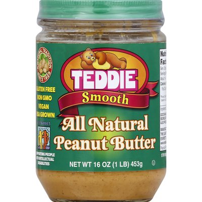 Teddie Peanut Butter, All Natural, Smooth