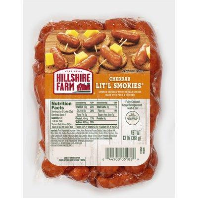 Hillshire Farm Cheddar Lit'l Smokies® Smoked Sausage, 13 oz.