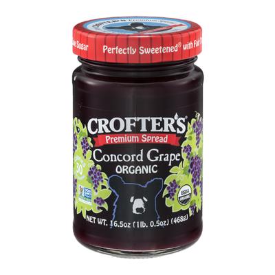 Crofter's Spread, Premium, Organic, Concord Grape