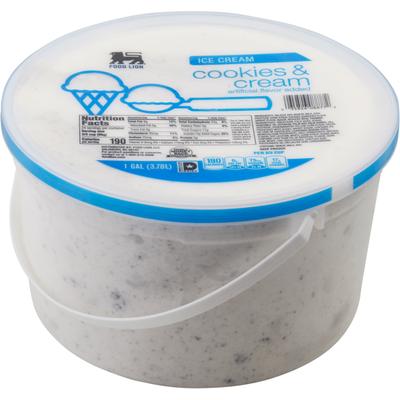 Food Lion Ice Cream, Cookies & Cream