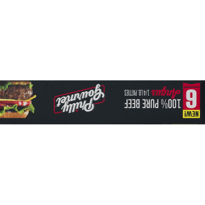 Philly-Gourmet Philly Gourmet 100% Pure Beef Angus Patties - 6 CT