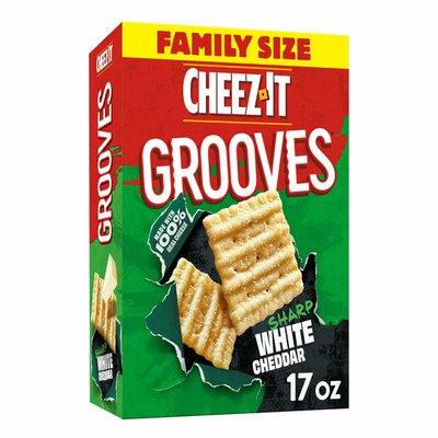 Cheez-It Cheese Crackers, Crunchy Snack Crackers, Sharp White Cheddar
