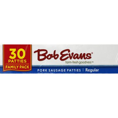 Bob Evans Farms Patties, Pork Sausage, Regular, Family Pack