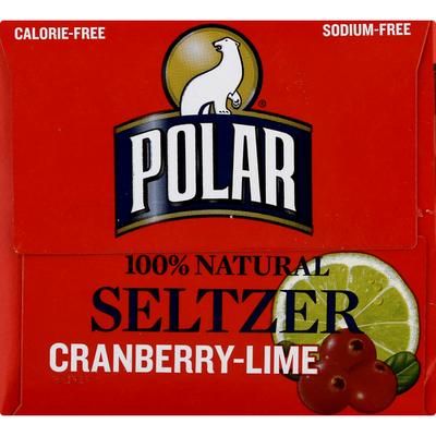 Polar Seltzer Calorie-Free Cranberry Lime