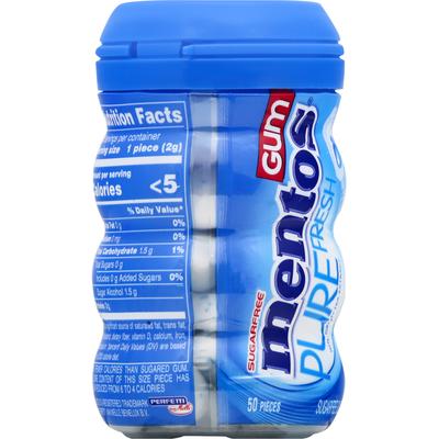 Mentos Gum, Sugarfree, Fresh Mint