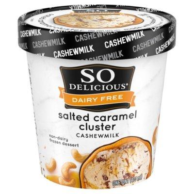 So Delicious Dairy Free Salted Caramel Cluster Cashew Milk Frozen Dessert