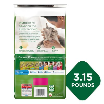Purina Cat Chow Indoor Dry Cat Food, Hairball + Healthy Weight
