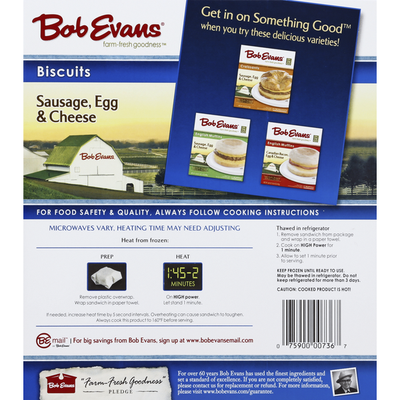 Bob Evans Farms Biscuits, Sausage, Egg & Cheese