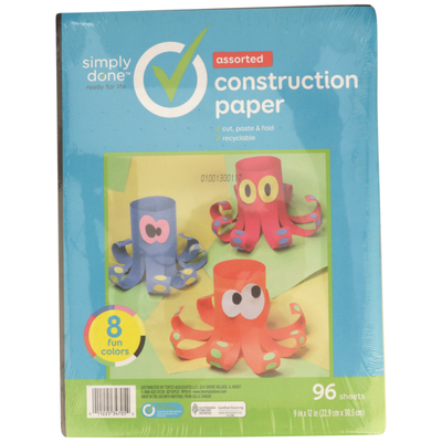 Simply Done Construction Paper, Assorted